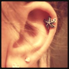 Starfish cartilage earring!