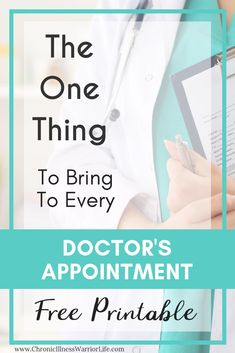 Living with a chronic illness I feel like I am always going to doctor's appointments. But I never remember everything I want to ask because of this annoying brain fog I have all of the time. This printable for doctor's appointments is perfect for me to pr Chronic Fatigue, Chronic Illness, Chronic Pain, Doctor Quotes, Medical Journals, Health Resources, Autoimmune Disease, Thyroid Disease, Medical Information