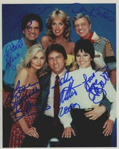 Three's Company Cast Signed 8x10 Photo Certified Authentic JSA