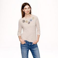 J.Crew Jeweled Donegal sweater. It's times like this I feel like I should buy stock in J. Crew. (Are they public?)