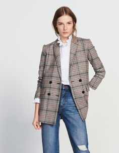 Double-Breasted Wool-Blend Jacket - Jackets - Sandro Paris