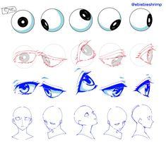 Manga Drawing Tips exi Anatomy Drawing, Anatomy Art, Manga Drawing, Figure Drawing, Drawing Sketches, Art Drawings, Drawing Tips, Eye Sketch, Drawing Practice