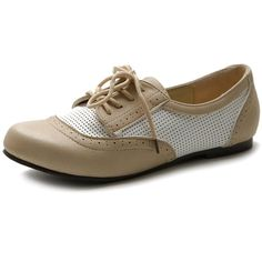 ecf08de2fcb Ollio Women s Flat Shoe Classic Breathable Lace Up Oxford     Additional  details at the pin image