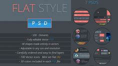 Free Flat Design UI Kits