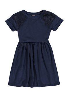 Girls Eyelash Lace-Paneled Dress (Kids)   Forever 21 girls - 2000173240
