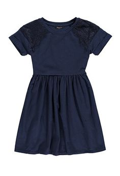 Girls Eyelash Lace-Paneled Dress (Kids) | Forever 21 girls - 2000173240