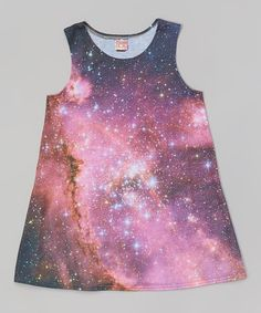 Pink Stars A-Line Dress