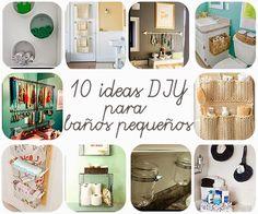 10 ideas DIY para baños pequeños | Decorar tu casa es facilisimo.com