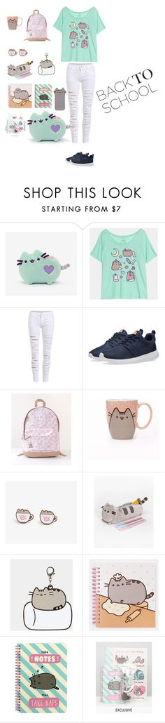 """#PVxPusheen"" by bearteddyblitz on Polyvore featuring Pusheen, WithChic, NIKE, contestentry and PVxPusheen"