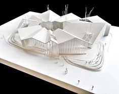 Origami architecture plan Ideas for 2019 Maquette Architecture, Vernacular Architecture, Roof Architecture, School Architecture, Planetarium Architecture, Roof Design, House Design, Residence Senior, Arch Model