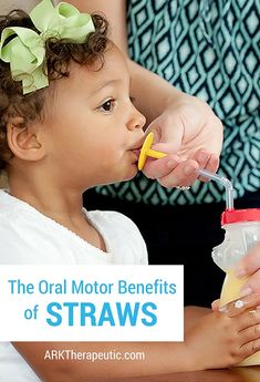 Whenever a parent asks me what they can do to improve their child's oral motor skills, one of my first questions is usually: Are they drinking from straws yet? Drinking from a straw is a very simple yet effective way of improving one's oral motor skills. Oral Motor Activities, Autism Activities, Speech Therapy Activities, Sensory Activities, Autism Resources, Pediatric Occupational Therapy, Pediatric Ot, Speech Language Pathology, Speech And Language