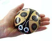 Gold.n.black beautiful blue eyes Lady Bug.