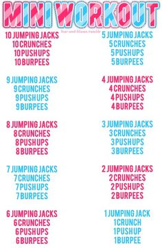Morning Workout loving these quick getcha-goings!