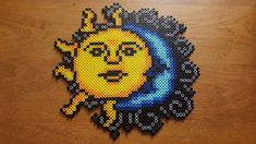 Sun & Moon perler by LadyRaveicorn