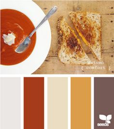 Who knew tomato soup and a grilled cheese sandwich made such a great color palette?