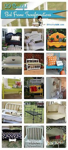 The Interior Frugalista - DIY Projects and Tutorials for the home Bed Frame Transformations Refurbished Furniture, Repurposed Furniture, Furniture Makeover, Furniture Projects, Diy Furniture, Painted Furniture, Office Furniture, Diy Projects To Try, Home Projects
