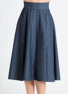 Saia Midi (Jeans Escuro)                                                                                                                                                                                 Mais