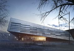 Ознакомьтесь с этим проектом @Behance: «Cultural Center in Sucha Beskidzka»…