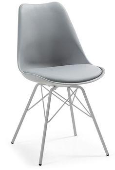 Ralf stoel metaal grijs - LaForma