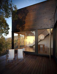 pangal cabin - casablanca, chile - ema - Beautiful modern cabin. Still think I prefer traditional designs though