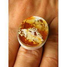 Amber Ring, ORANGE, matte sterling Silver 925 rail,genuine amber,anillo ámbar,rav ring,anel,ambre,bärnsten,bernsteinring, 琥珀戒指, Handmade von JewellerWithSoul auf Etsy
