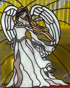 Angel Of Hope  Modern Stained Glass Sun by EleganceInArtGlass, $250.00