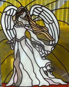 Angel Of Hope  Modern Stained Glass Sun by EleganceInArtGlass, $250.00