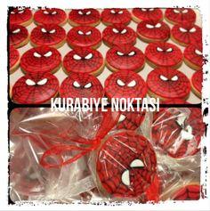 Spiderman kurabiyelerimiz hazır :) Bilgi ve siparişleriniz için www.kurabiyenoktasi.com whatsapp numaramız 0544 323 50 72