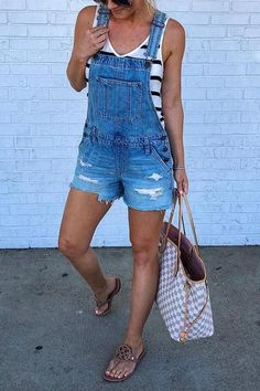 Cute distressed overalls with all the pockets, cut off for your comfort.These Beloved denim to Copy are flat out magic. They are trendy, cool and worth imitating.Take the Denim Overalls with you whereve. Denim Cutoffs, Denim Romper, Ripped Denim, Denim Outfit, Overall Shorts Outfit, Womens Overall Shorts, Denim Overall Shorts, Ripped Shorts Outfit, Cute Overall Outfits
