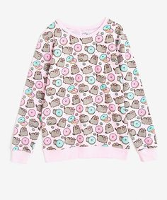Donut Pusheen Print Ladies Sweatshirt