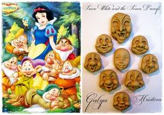 Faces for Snow White and the Seven Dwarfs - Cake by Galia Hristova – Art Studio