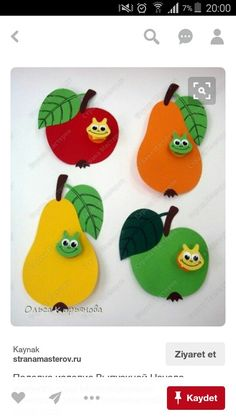 7 Besten Apfel Basteln Bilder Auf Pinterest Infant Crafts Crafts