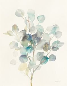 Help your wall blossom with this Metaverse Art Eucalyptus III canvas wall art. Watercolor Leaves, Floral Watercolor, Watercolor Paintings, Watercolors, Wall Art Prints, Fine Art Prints, Canvas Artwork, Painting Inspiration, Art Drawings