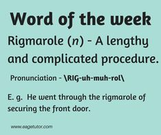 Word of the week.  #Weeklyword #Wordpower