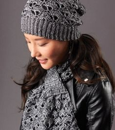 Download Silver Screen Hat And Scarf Crochet Pattern (FREE)