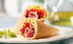 Receita de Wrap de salada com iogurte - Sanduíche - Dificuldade: Fácil - Calorias: 288 por porção