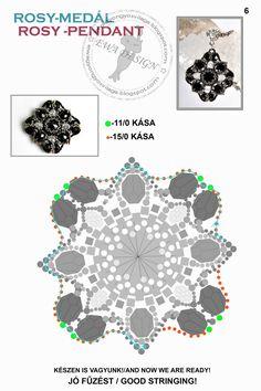 MATERIALE:   rivoli 12 mm   sfaccettate 8 mm   sfere schiacciate 4x6 mm   sfere schiacciate 3x5 mm   delica 11/0 in 2 colori...