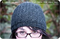 Herringbone knit hat pattern