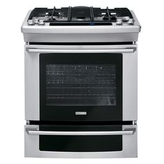 Electrolux 5-Burner 4.2-cu ft Self-Cleaning Slide-In Convection Gas Range (Stainless Steel) (Common: 30-in; Actual 30-in)