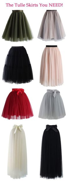 Every Girl Needs a Tulle Skirt! Our tulle skirt features a satin waistline, a flattering flit-and-flare cut and 5 layers of delicate, gracefully flowing mesh! http://TheChicFind.com