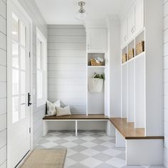 A mud room, by virtue of its existence, makes all the other rooms in the house so much tidier. I have 10 things to include in a Mud Room here. House Design, House Interior, Mudroom Laundry Room, Farmhouse Laundry Room, House, Home, Interior, Mudroom Design, Room
