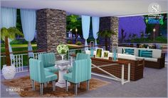 Shagon diningroom at SIMcredible! Designs 4 via Sims 4 Updates