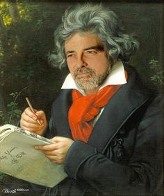 "George ""Beethoven"" Clooney by JanStaes 21st place entry in Modern Renaissance 19"