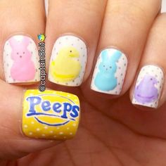 Modern Easter Nail Designs for 2020 that's innovative, interesting & irrestible – Hike n Dip Fingernail Designs, Nail Polish Designs, Nail Art Designs, Cute Nail Art, Cute Nails, Pretty Nails, Easter Nail Designs, Easter Nail Art, Seasonal Nails
