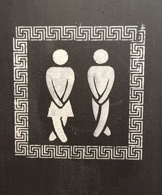 Literally Just A Bunch Of Next Level Gender Inclusive Bathroom Signs Gender Neutral Bathrooms, Gender Inclusive, Cute Signs, Return To Work, Bathroom Signs, Get The Job, Sign Design, Amazing Bathrooms, This Or That Questions