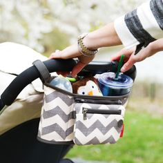 Skip Hop-Pram Accessories-Stroller Organiser{Chevron}