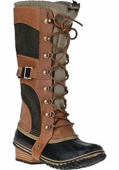 Sorel - Conquest Carly Tall Boot Trail Multi // the only duck boot I've ever seen that's attractive