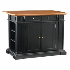 Kitchen Island - Ebony/Oak