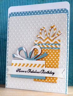 2015-Birthday Card (2)... - Scrapbook.com - Die cut birthday presents to create your own birthday embellishments for a hand made card.