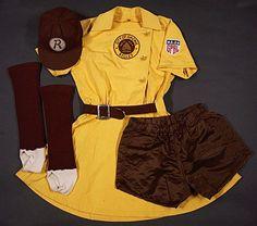 Racine Belles uniform Baseball Uniforms, Baseball League, Baseball Girls, All American Girl, American Women, Diy Costumes, Halloween Costumes, Costume Ideas, Halloween Boo